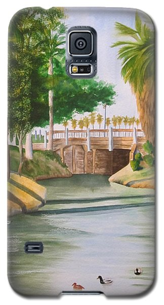 Galaxy S5 Case featuring the painting Bubbling Springs Park by Teresa Beyer