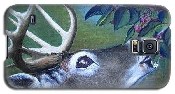 Galaxy S5 Case featuring the painting Buck by Mary Ellen Frazee