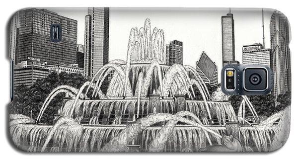 Buckingham Fountain Drawing Galaxy S5 Case