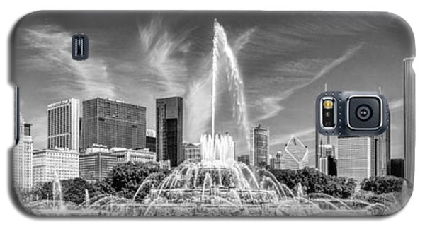 Buckingham Fountain Skyline Panorama Black And White Galaxy S5 Case