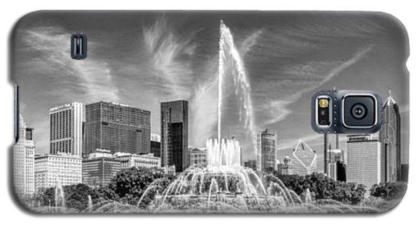 Buckingham Fountain Skyline Panorama Black And White Galaxy S5 Case