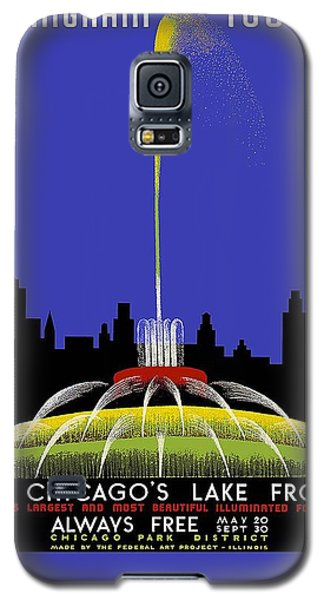 Buckingham Fountain Vintage Travel Poster Galaxy S5 Case