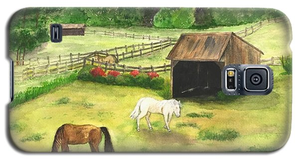 Bucks County Horse Farm Galaxy S5 Case