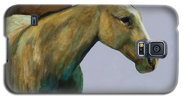 Galaxy S5 Case featuring the painting Buckskin by Frances Marino