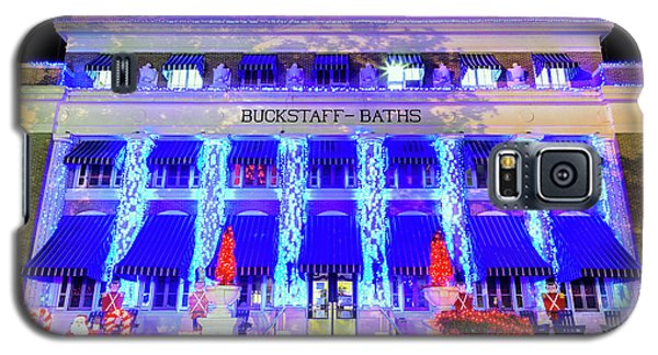 Galaxy S5 Case featuring the photograph Buckstaff Baths - Christmastime by Stephen Stookey