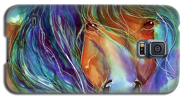Bucky The Mustang In Watercolor Galaxy S5 Case