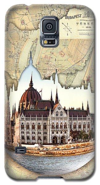 Budapest Globe Map Galaxy S5 Case