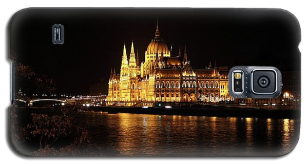 Galaxy S5 Case featuring the digital art Budapest - Parliament by Pat Speirs