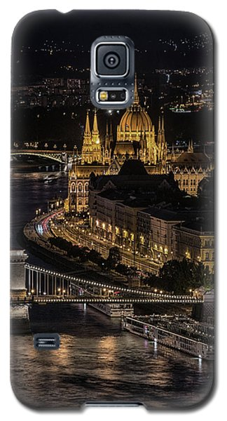 Budapest View At Night Galaxy S5 Case by Jaroslaw Blaminsky