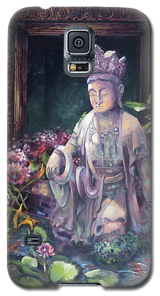 Budda Statue And Pond Galaxy S5 Case