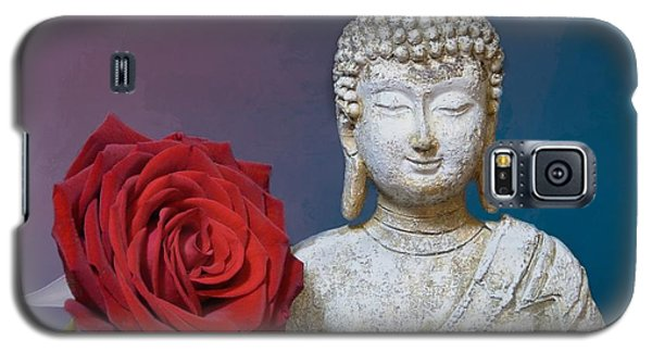 Buddha And Rose Galaxy S5 Case