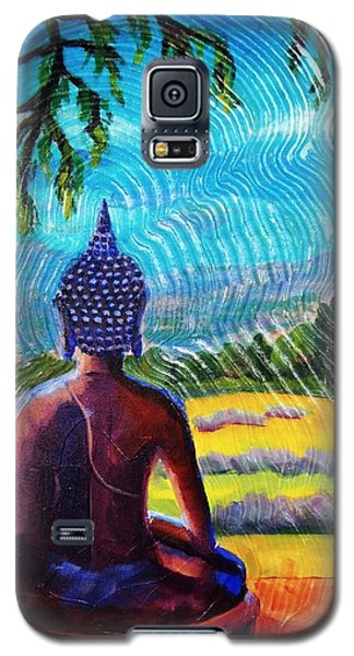 Buddha Atop The Lavender Farm Galaxy S5 Case by Janet McDonald