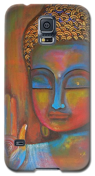 Galaxy S5 Case featuring the painting Buddha Blessings by Prerna Poojara