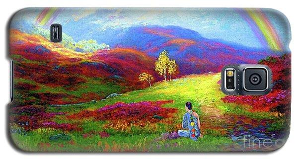 Buddha Chakra Rainbow Meditation Galaxy S5 Case