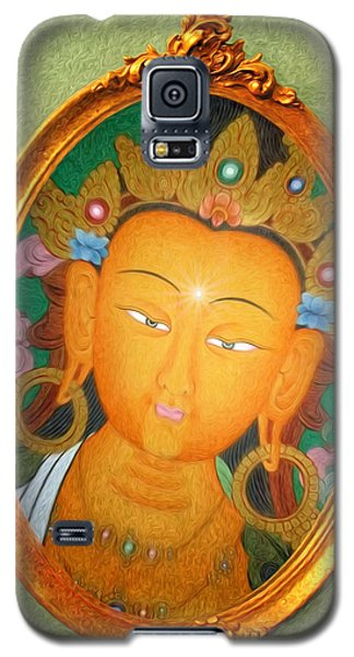 Galaxy S5 Case featuring the painting Buddha Mirror by Robby Donaghey