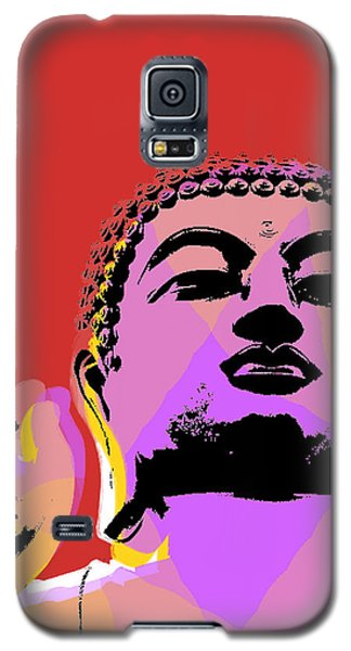 Galaxy S5 Case featuring the digital art Buddha Pop Art  by Jean luc Comperat