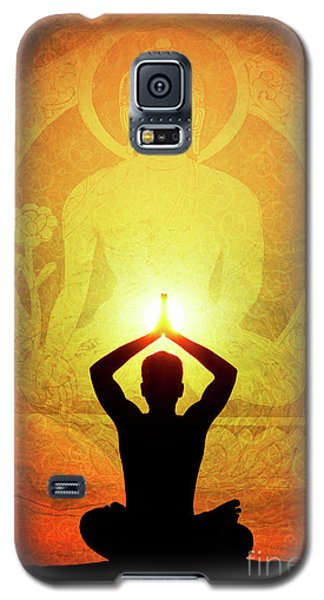 Galaxy S5 Case featuring the photograph Buddha Prayer by Tim Gainey