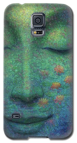 Galaxy S5 Case featuring the painting Buddha Smile by Sue Halstenberg