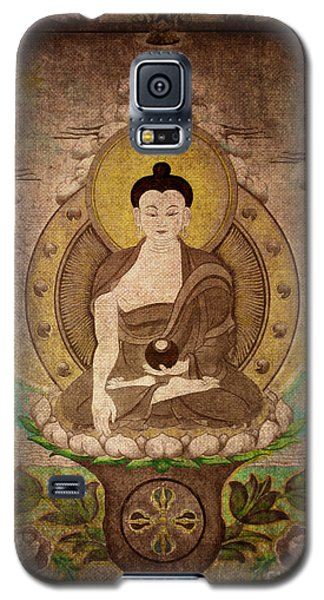 Buddha Thangka Silver Galaxy S5 Case