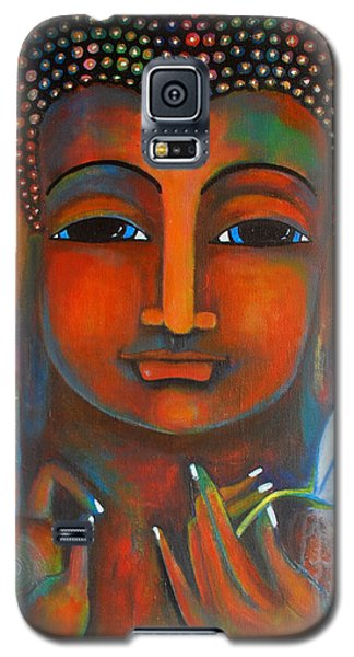 Buddha With A White Lotus In Earthy Tones Galaxy S5 Case