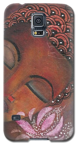 Buddha With Pink Lotus Galaxy S5 Case