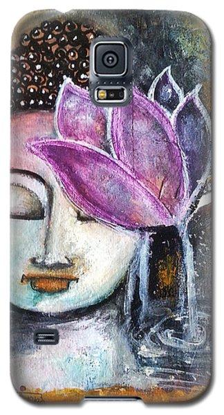 Buddha With Torn Edge Paper Look Galaxy S5 Case by Prerna Poojara