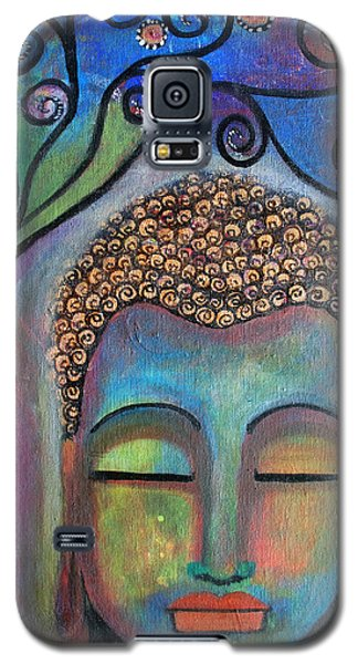 Galaxy S5 Case featuring the painting Buddha With Tree Of Life by Prerna Poojara