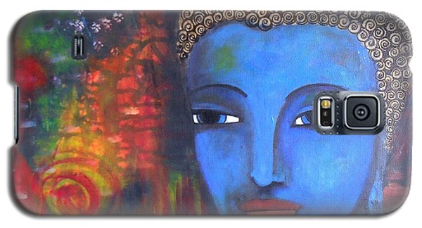 Galaxy S5 Case featuring the painting Buddha Within A Circular Background by Prerna Poojara