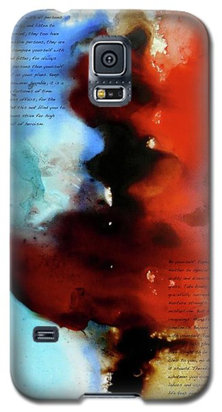 Galaxy S5 Case featuring the painting Budding Romance by Jo Appleby