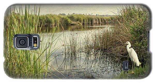 Buena Vista Lagoon-snowy Egret Galaxy S5 Case