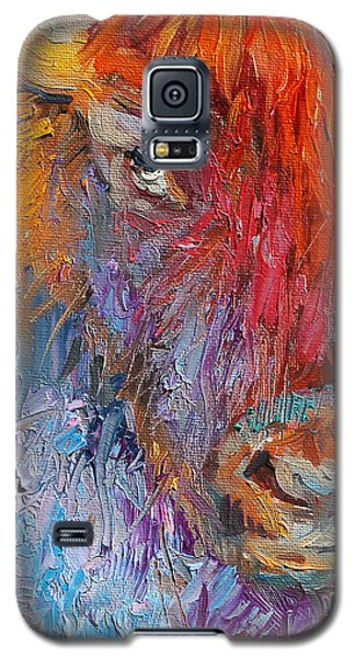 Buffalo Bison Wild Life Oil Painting Print Galaxy S5 Case
