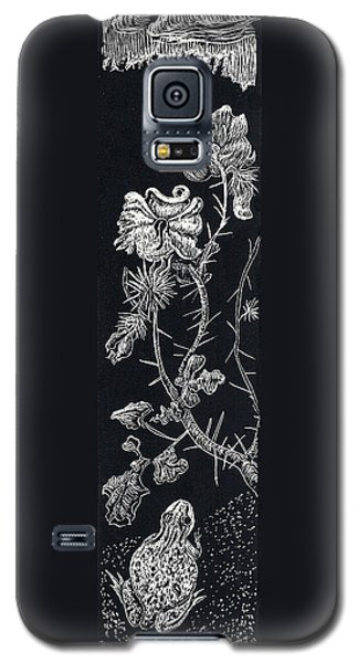 Galaxy S5 Case featuring the drawing Buffalo Burr And Toad by Dawn Senior-Trask