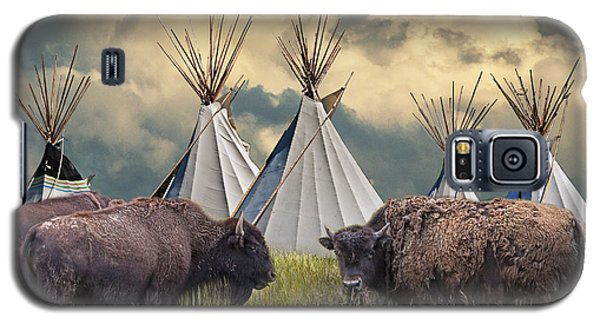 Buffalo Herd On The Reservation Galaxy S5 Case