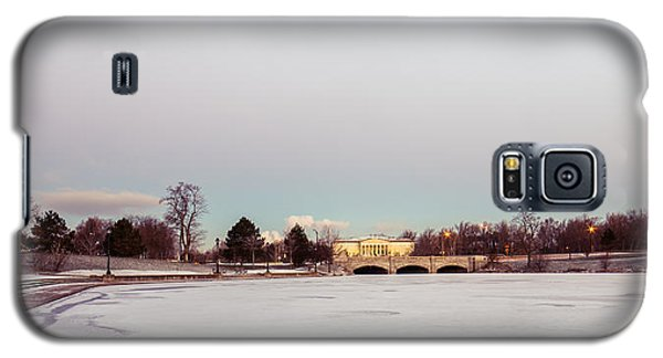 Galaxy S5 Case featuring the photograph Buffalo History Museum Across Hoyt Lake by Chris Bordeleau