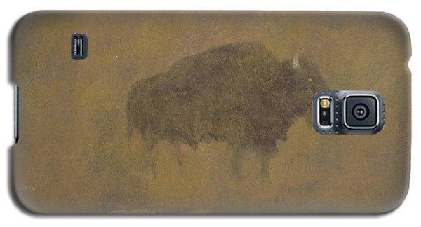 Buffalo In A Sandstorm Galaxy S5 Case by Albert Bierstadt