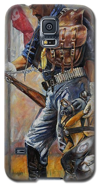 Galaxy S5 Case featuring the painting Buffalo Soldier Outfitted by Harvie Brown