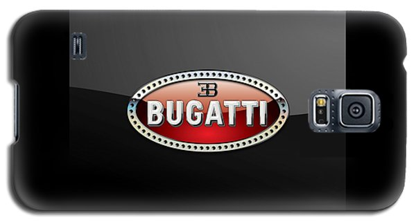 Bugatti - 3 D Badge On Black Galaxy S5 Case by Serge Averbukh