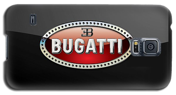Bugatti - 3 D Badge On Black Galaxy S5 Case