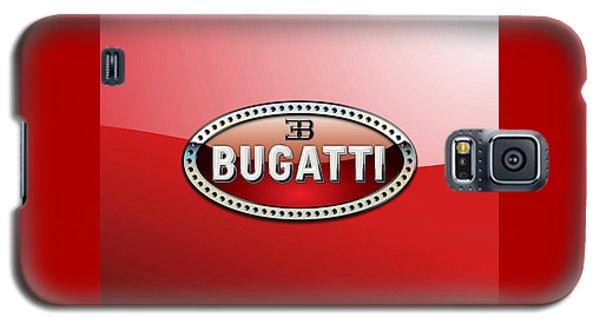 Bugatti - 3 D Badge On Red Galaxy S5 Case by Serge Averbukh