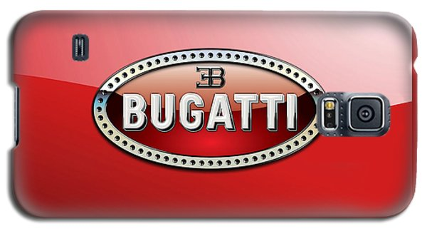 Bugatti - 3 D Badge On Red Galaxy S5 Case