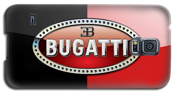 Bugatti 3 D Badge On Red And Black  Galaxy S5 Case by Serge Averbukh