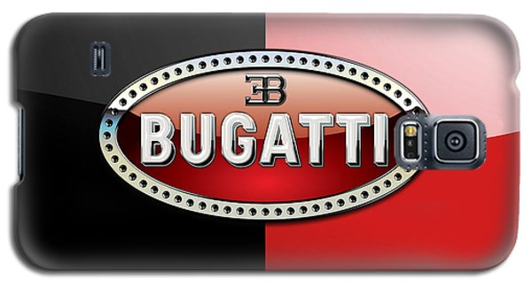 Bugatti 3 D Badge On Red And Black  Galaxy S5 Case
