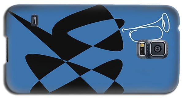Bugle In Blue Galaxy S5 Case by David Bridburg