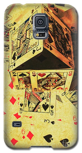 Galaxy S5 Case featuring the photograph Building Bets And Stacking Odds by Jorgo Photography - Wall Art Gallery