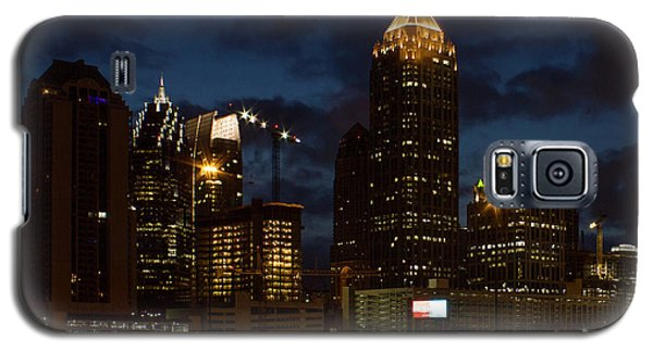 Galaxy S5 Case featuring the photograph Building Boom Midtown Atlanta Construction Art by Reid Callaway