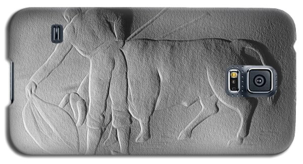 Galaxy S5 Case featuring the relief Bull Fighter by Suhas Tavkar
