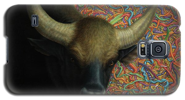 Bull Galaxy S5 Case - Bull In A Plastic Shop by James W Johnson