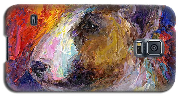 Bull Terrier Dog Painting Galaxy S5 Case