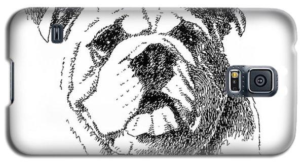 Bulldog-portrait-drawing Galaxy S5 Case