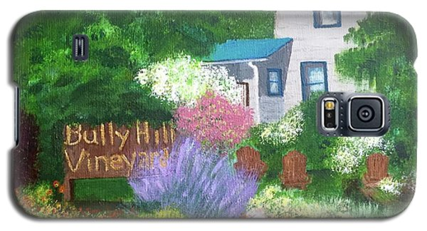 Galaxy S5 Case featuring the painting Bully Hill Vineyard by Cynthia Morgan